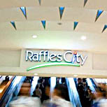 """Raffles City Singapore"" by Zack Wong"